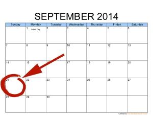 September 21 calendar